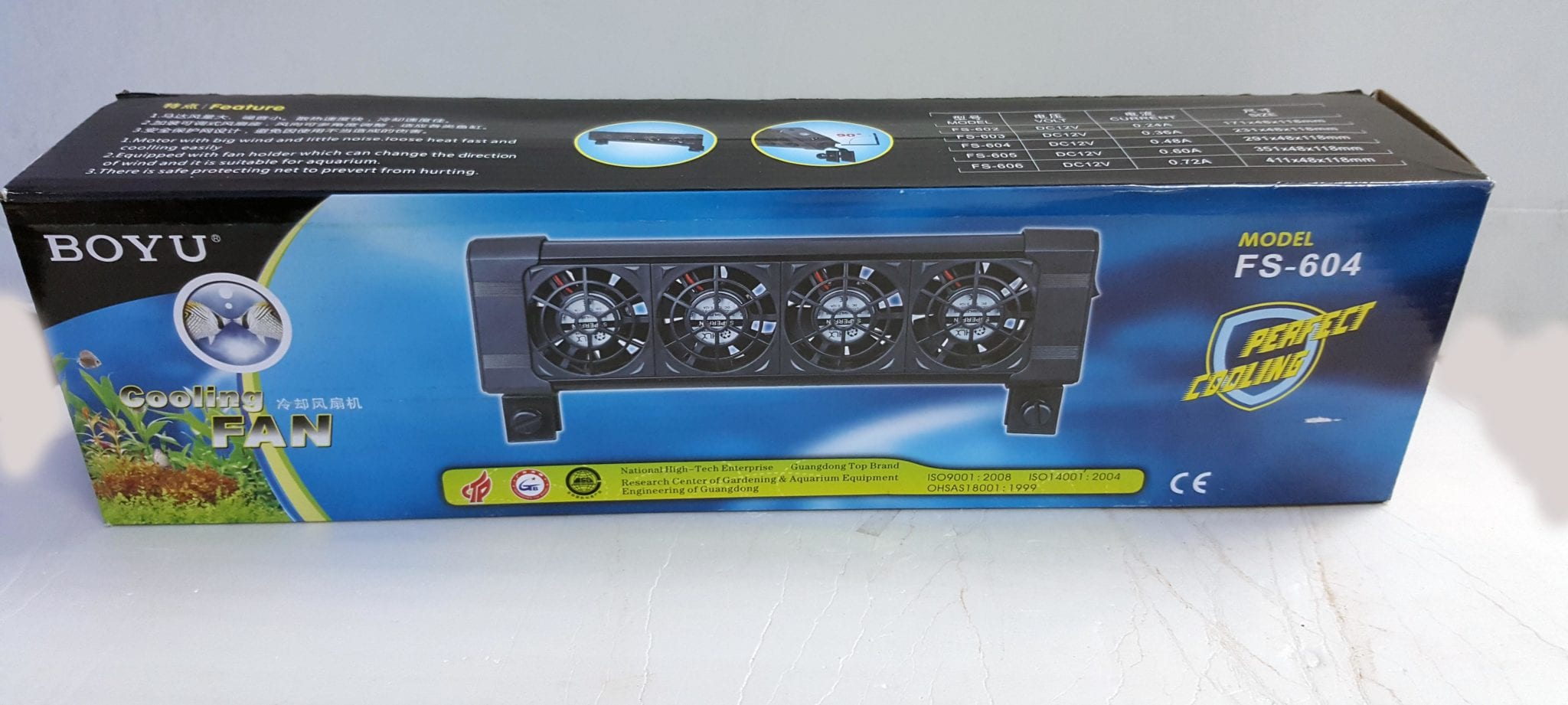 boyu aquarium Cooling Fan 4 head – MyAquariumshop line store