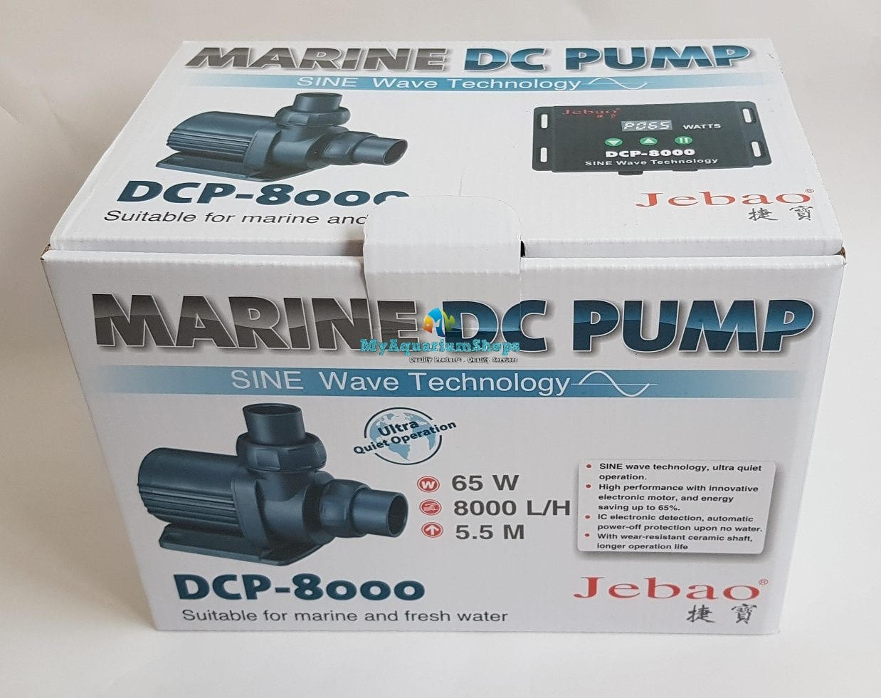jebao dcp8000 pump new model max flow 8000 litres hr