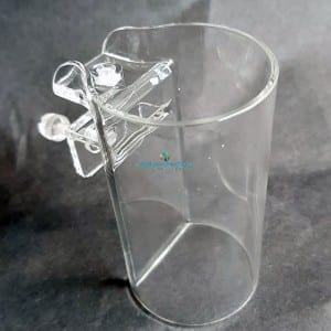 acrylic fish feeder cup