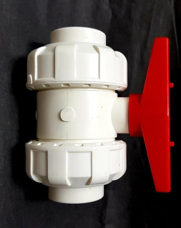 true union white pvc ball valve 20,25,32 and 40mm valve