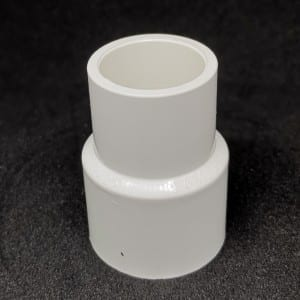 white pvc pipe reducer